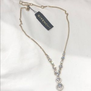 Givenchy Crystal pendent goldstone Necklace